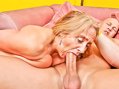 Candy's old pussy takes a beating from a younger mans cockvideo
