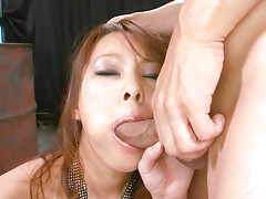Sexy Asuka gobbles a hard cock and is fucked hard doggie-stylevideo