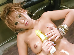 busty,sexy dress,oiled body,sex toys,dildo,nice ass,asianvideo