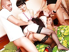 Young girls in stockings roughly bangedvideo