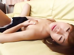 After giving a wet blowjob, cute and shy Japanese schoolgirl Arisa gets her first cock in her tight and wet Asian pussy. She gets deeply fucked from behind and gets a good cumshotvideo