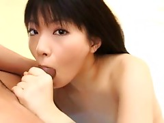 For sure you know Akane Ozora and if not it's about the time you get to meet her deeper... and by that I mean the attitude that comes out of of her while she's doing blowjob. It's not just simple cock licking and sucking, but also premium balls teasing. Of course as a reward for her or for you we can enjoy watching her fucked on back in pink warmers!video
